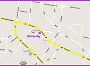 Dojazd do Butterfly - mapa powiększona